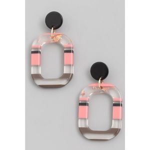 Kameakay Pink Lady Gold Flaked Earrings